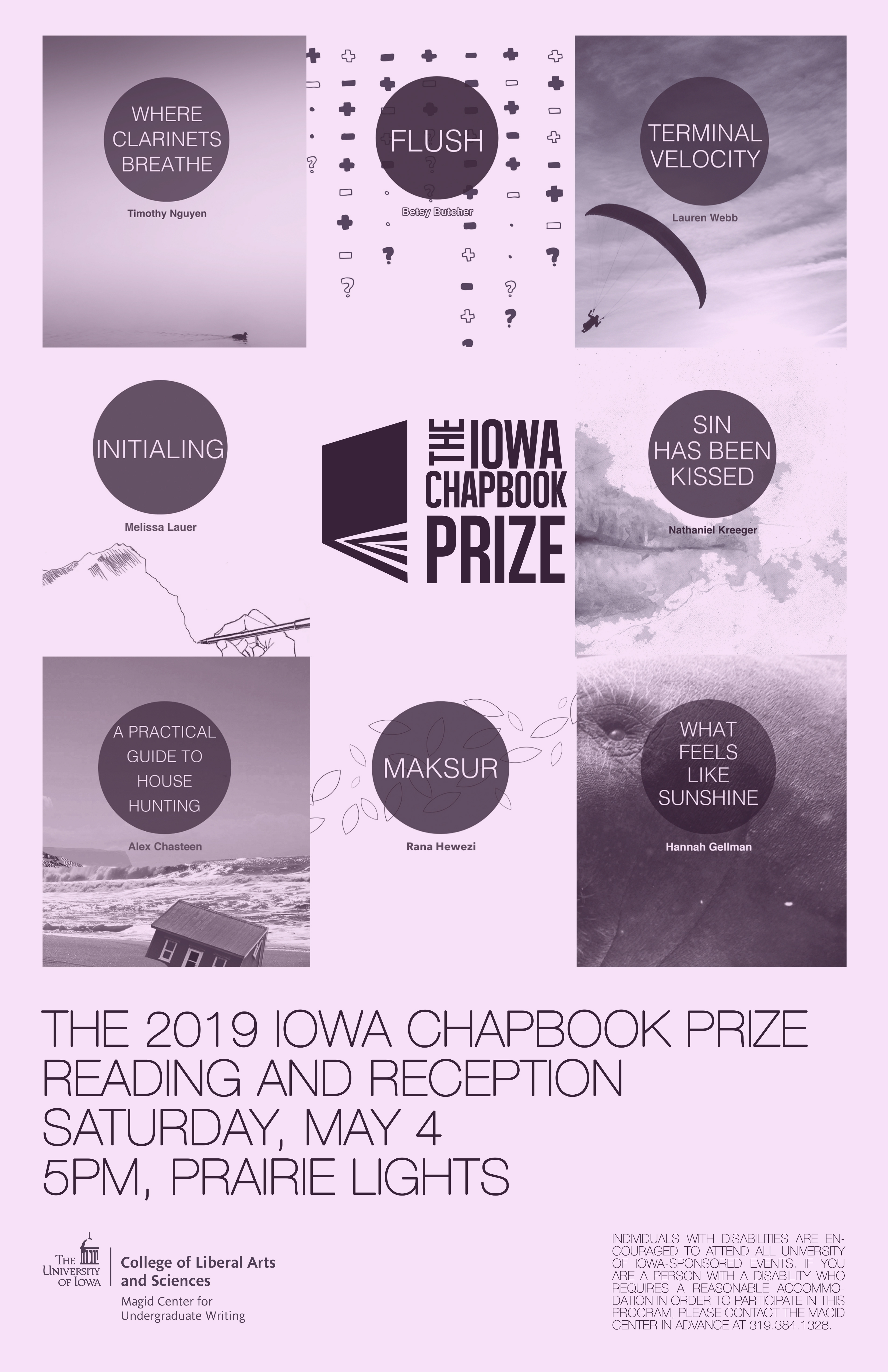 2019 Iowa Chapbook Prize Reading and Reception
